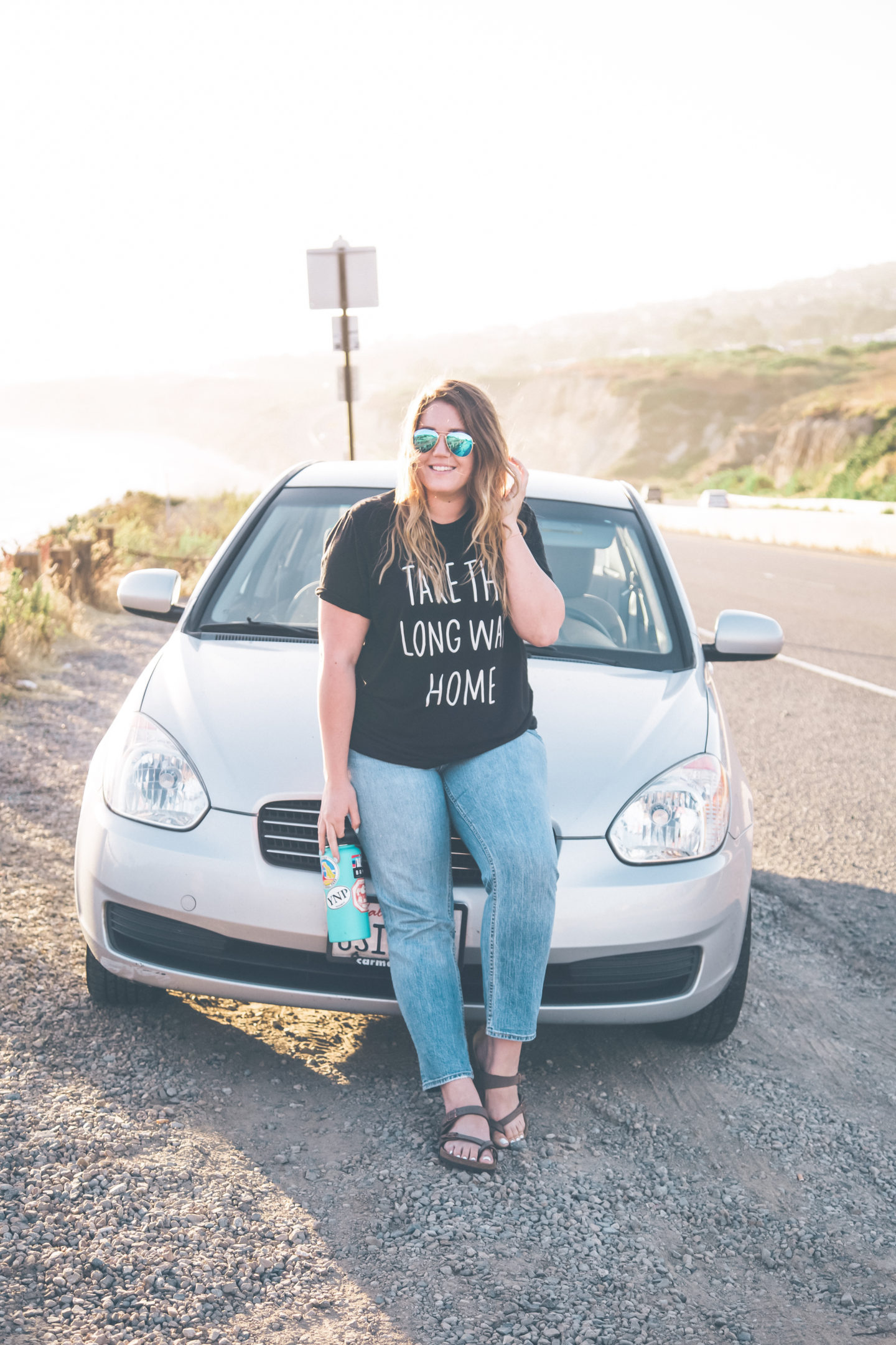 california road trip, take the long way home t-shirt // wander abode