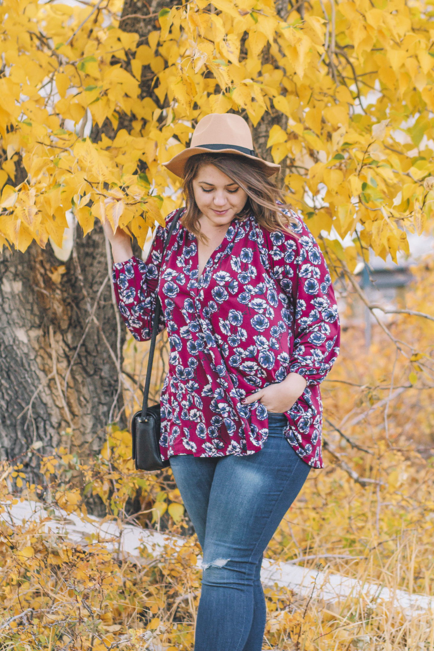fall florals in meritt clothing label, shop impressions boutique