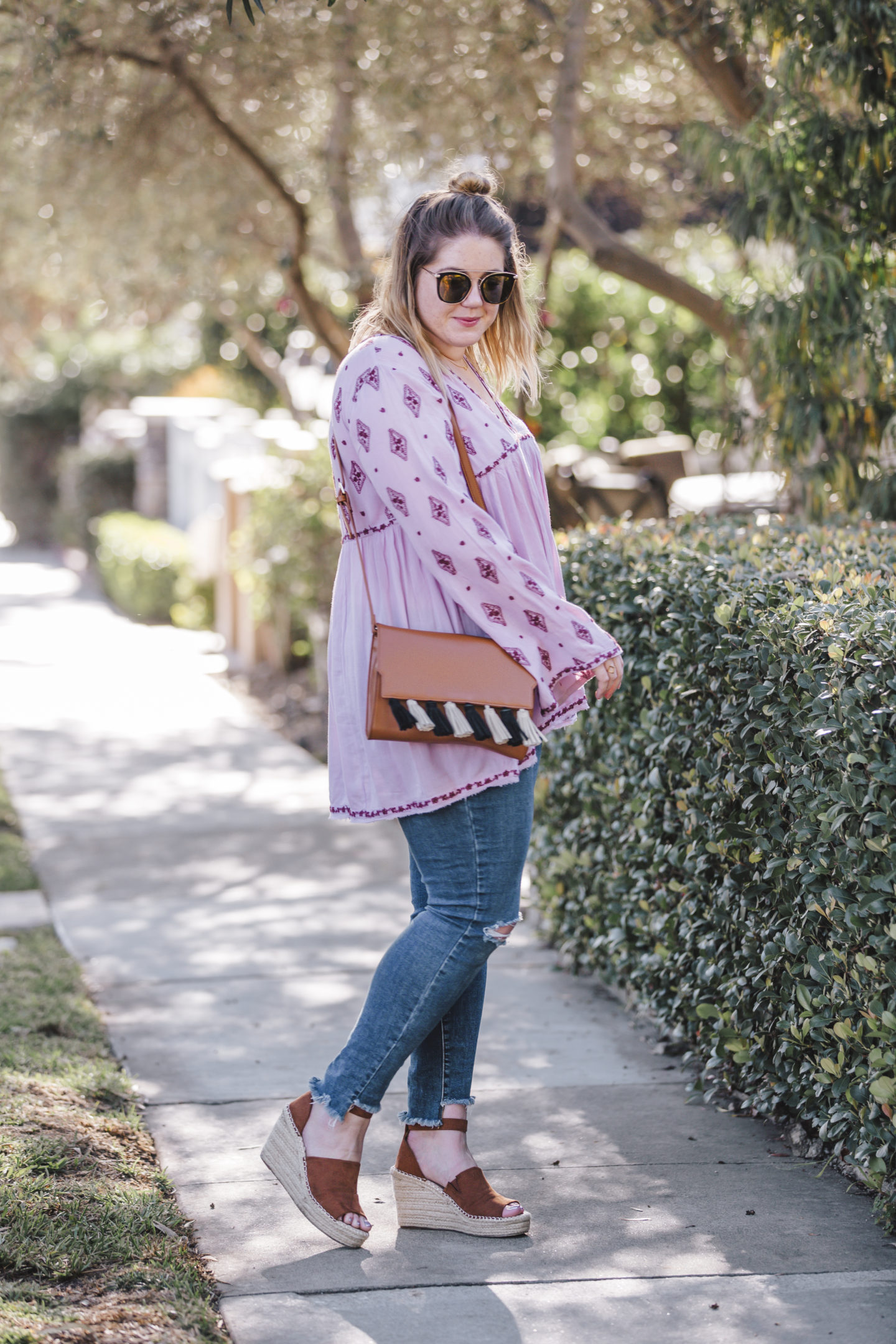 free people embroidered tunic, spring outfit ideas