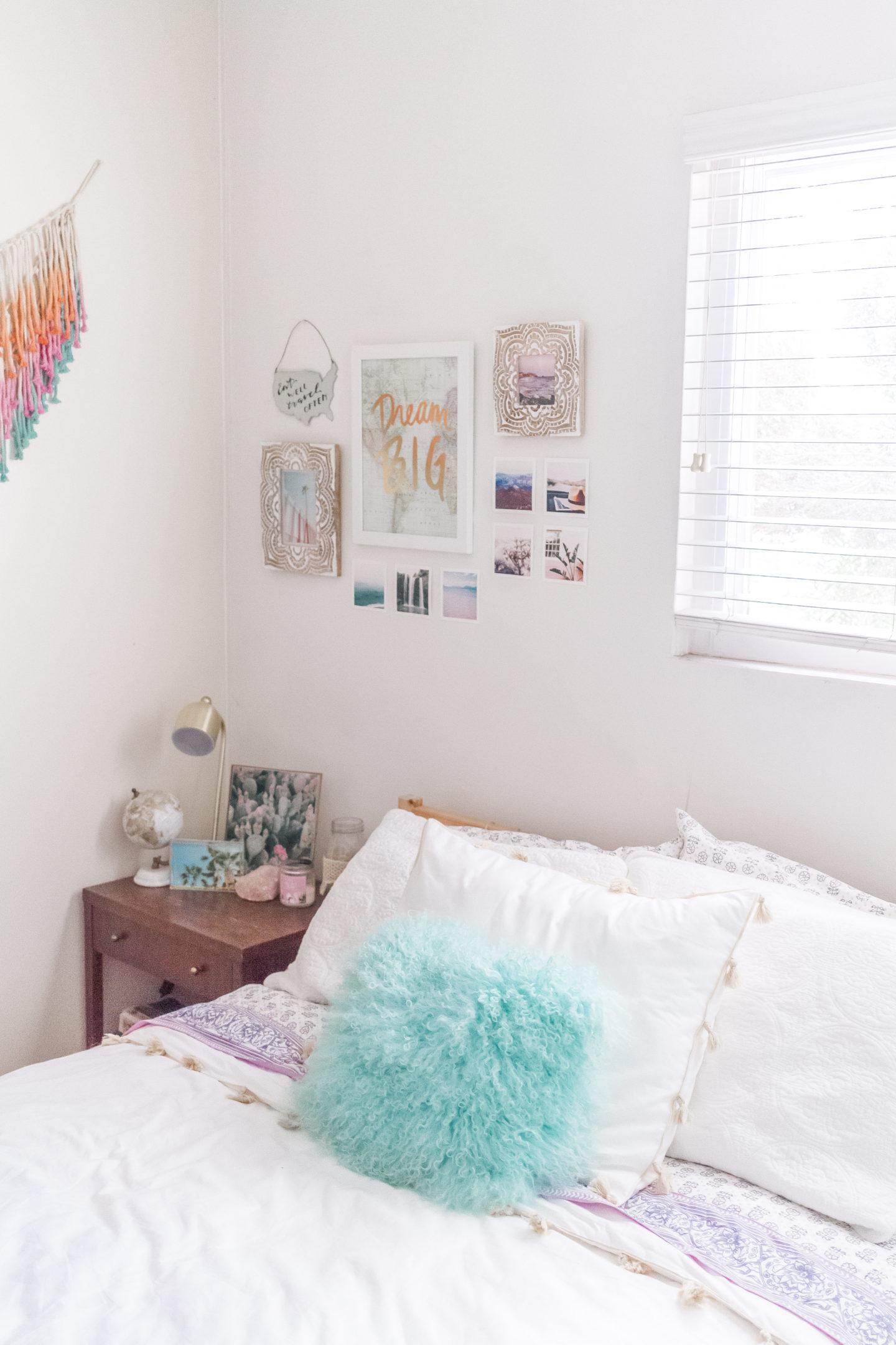 bright boho chic bedroom #mypbteen #sponsored