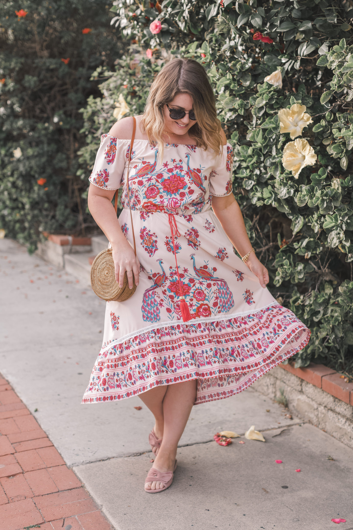 boho midi dress, spell designs, elisa nicole vibes, festival style, coachella outfit