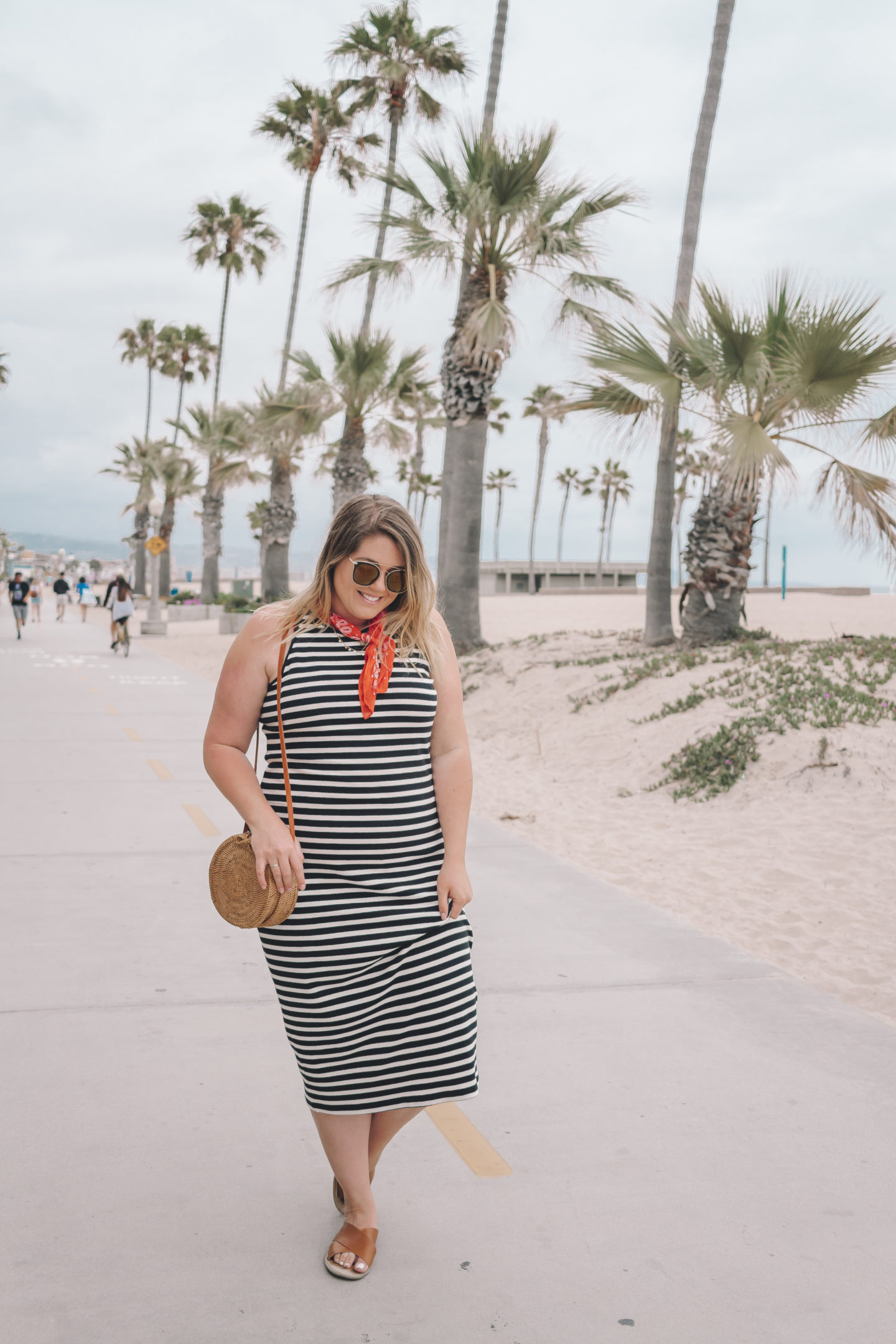 striped midi dress - wander abode