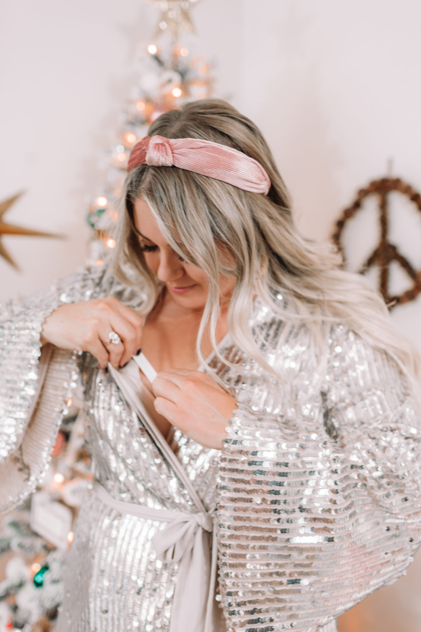 holiday sequin dress Dress // Confidently This Holiday Season with Fearless Tape // wanderabode.com