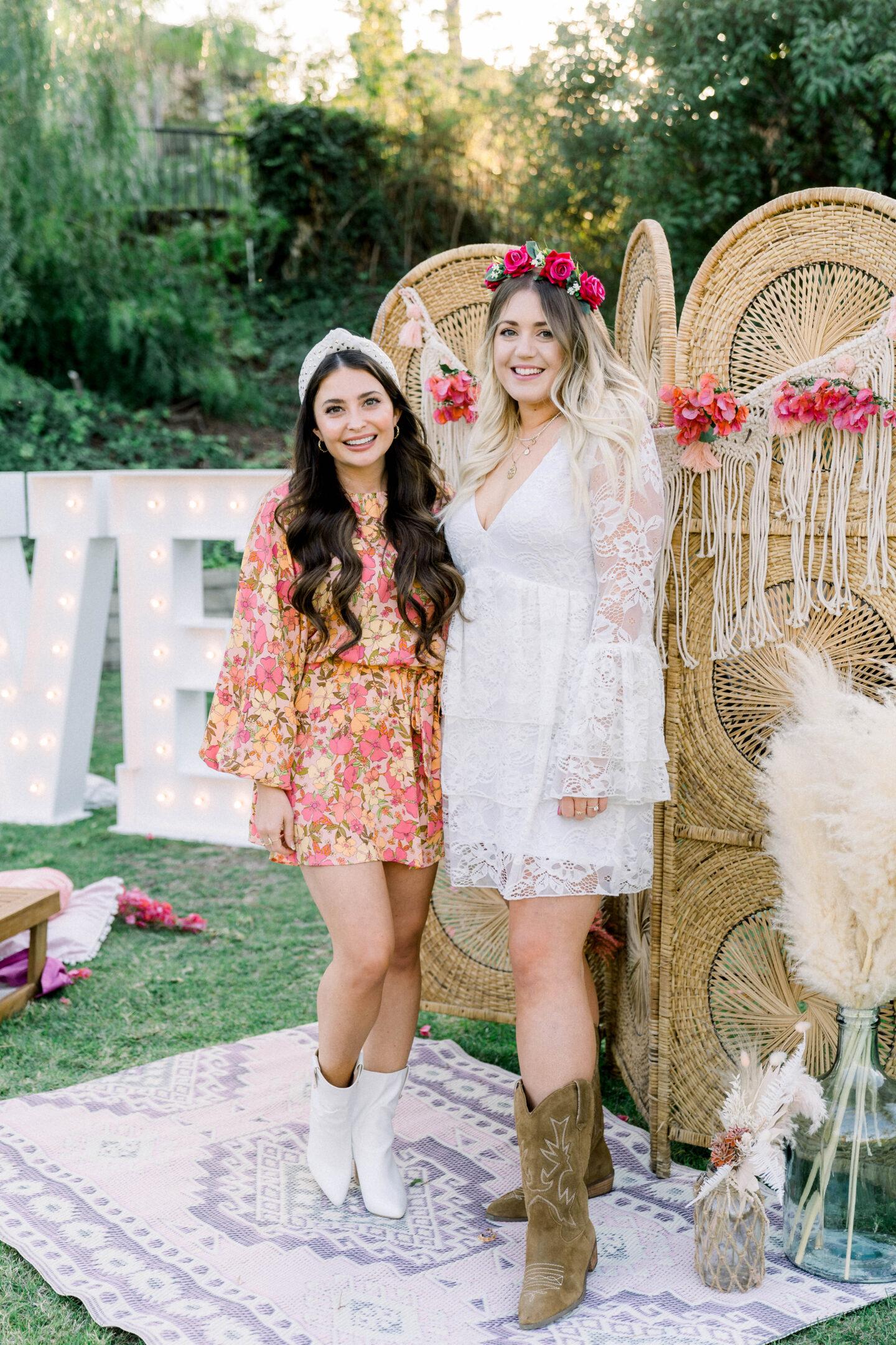 Show Me Your Mumu white dress // boho bridal shower dress